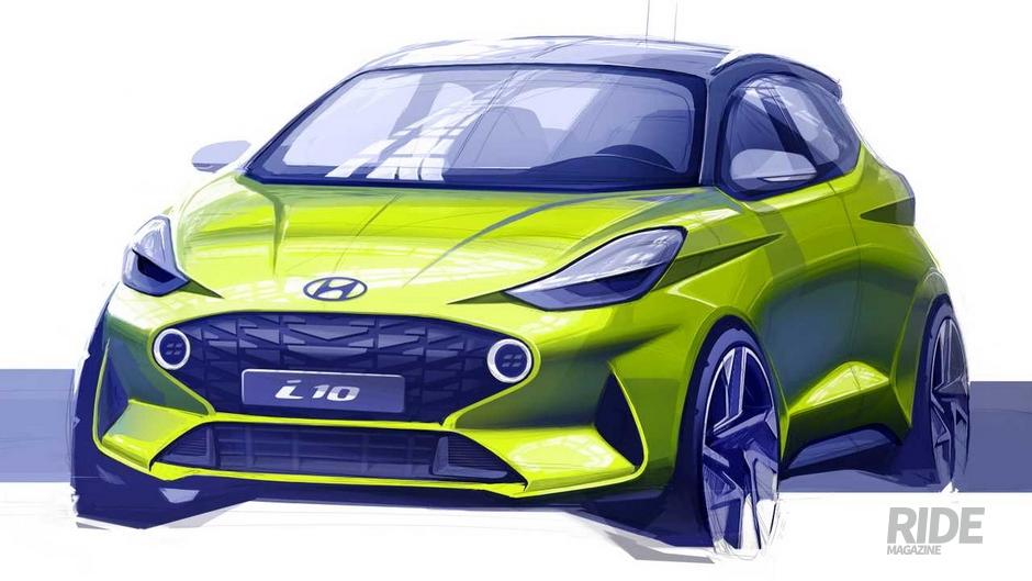 현대자동차 유럽 전략모델 I10 디자인스케치 공개 라이드매거진